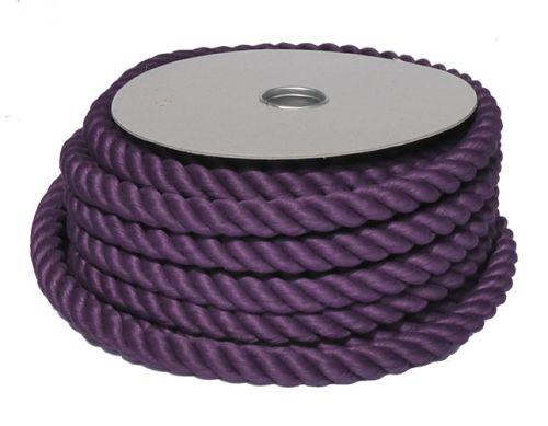 24mm Purple PolyCotton Barrier Rope - 24m reel