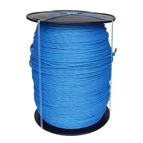 6mm Blue Polypropylene Rope on a 1000m plastic reel