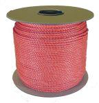 4mm Orange Polypropylene Rope sold on a 220m reel