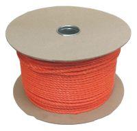 8mm Orange Polypropylene Rope sold on a 100m reel