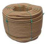 16mm 4-strand Jute/pp rope - 220m coil