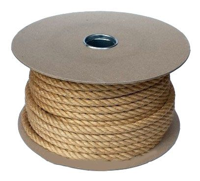 12mm Jute Rope sold on a 50m reel