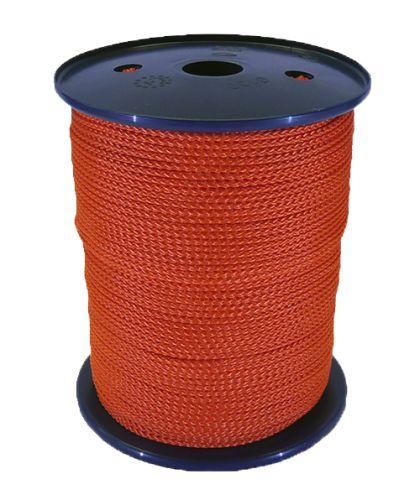 3mm Orange Polypropylene Multicord - 200m reel