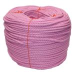 8mm Pink PolyCotton Rope - 220m coil