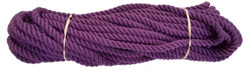 10mm Purple PolyCotton Rope - 24m coil