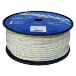 8mm braid on braid yellow fleck polyester rope 100m reel