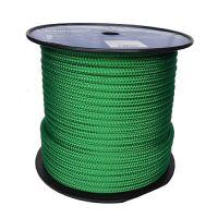 12mm Solid Green Braid on Braid Polyester 100m reel