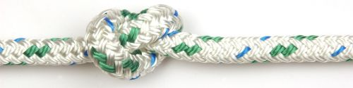 6mm Braid on Braid Green Fleck Polyester Rope per metre